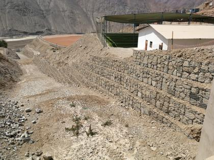 Gabion walls to protect the ravine of Santa Rosa - Swiss Better Gold Association