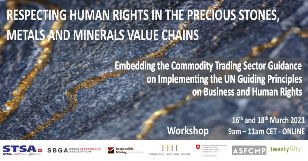 Respecting human rights in the precious stones, metals and minerals value chains